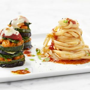 Linguini gegrilde groenten